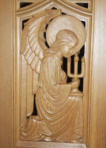 blog image- Wooden door inside Bishop Marty Chapel