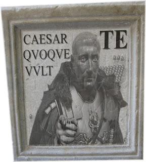 CASEAR TE QVOQVE VVLT - tirones milites - Rekrutierungsinschrift