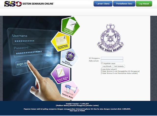 Sistem Semakan Online PDRM