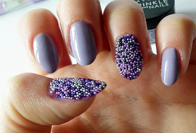 nails, caviar manicure, avon gel finish, lavender sky, purplicious, avon sparkle nails, kawior na paznokciach, Sally Hansen, Eveline,