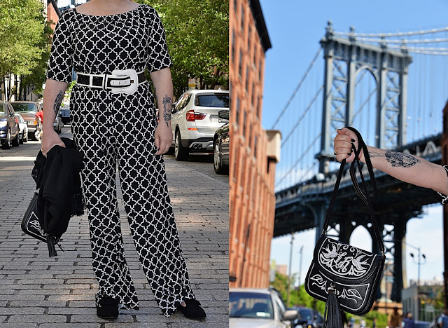 DUMBO in New York City, Manhattan, Brooklyn, blogerka w Nowym Jorku, Blackandwhitefashion in NY