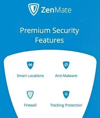ZenMate permette di sbloccare i Siti Web, crittografa il traffico del browser. Wifi e offre protezione da Hacker.