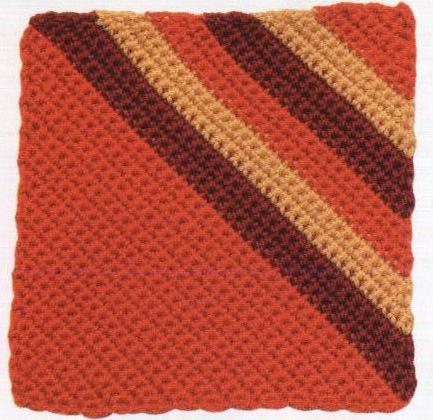 Patrón 949 Grannys Rallas en Triangulo a Crochet