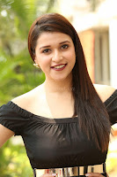Mannara Chopra in Short Off Shoulder Black Dress ~  Exclusive 023.JPG
