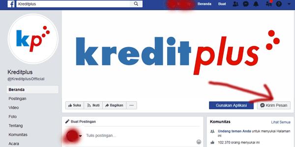 halaman facebook kredit plus official