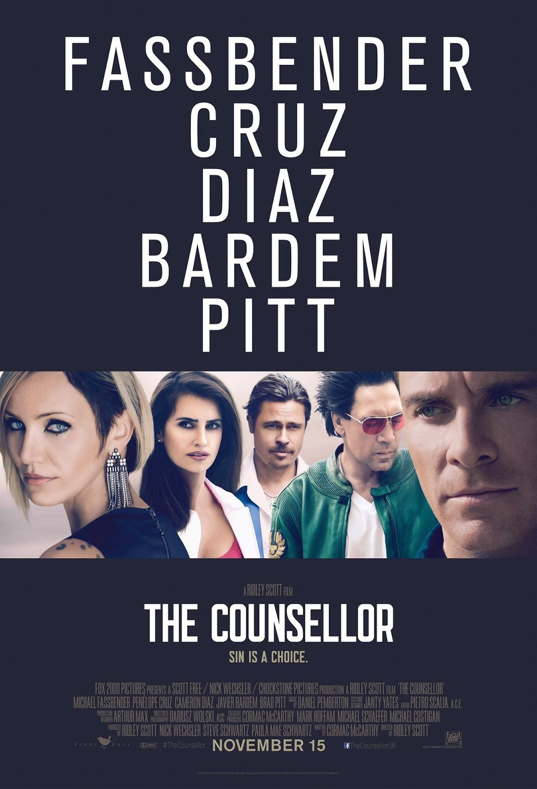 The Counselor, Movie Poster, Directed by Ridley Scott