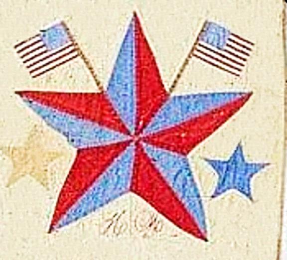 Civil War Quilts: Yankee Diary Block 2: Susan B.'s Star