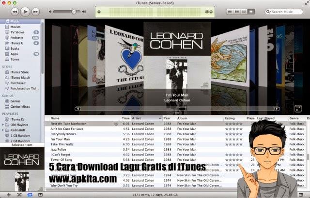 5 Cara Download Lagu Gratis Dari ITunes