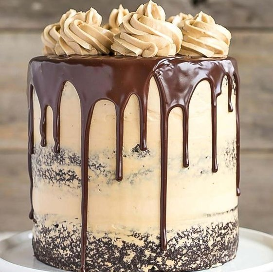 CHOCOLATE DULCE DE LECHE CAKE #Cake #Chocolate