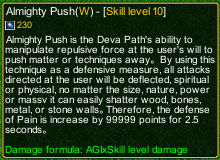 naruto castle defense 6.0 Almighty Push detail