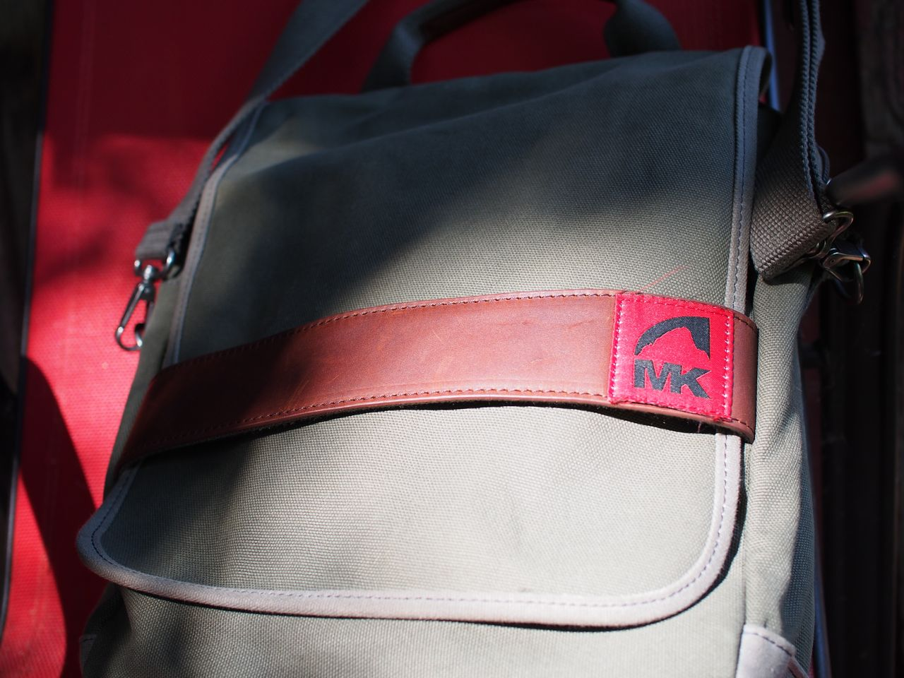 The Bag Has Nice Features Throughout Pockets Where You Need Them Secured And Quick Access Cover Flap Is Held On With A Looking Leather Strap