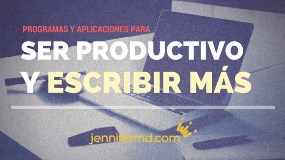 ser más productivo y escribir más