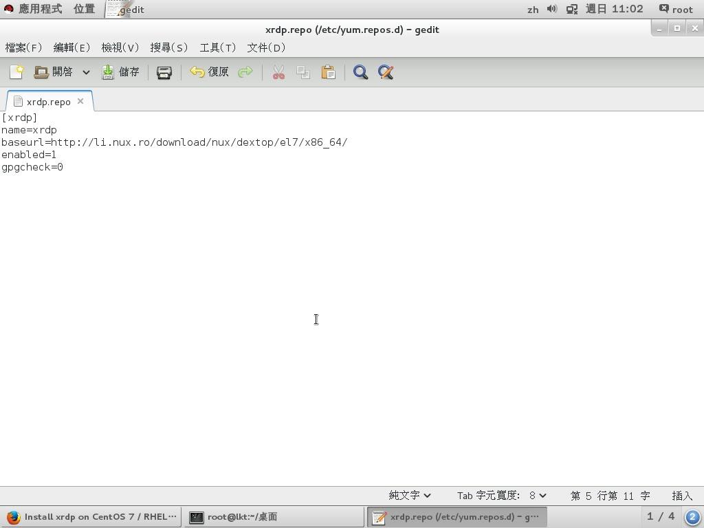 Linux上課筆記: Install xrdp on CentOS 7 / RHEL 7