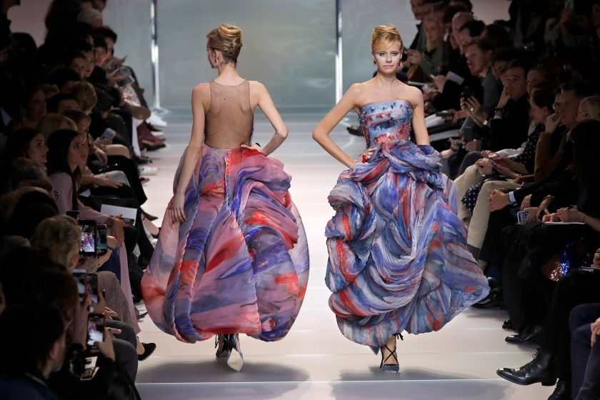 Runway Giorgio Armani Spring Summer 2018 At Haute Couture Week
