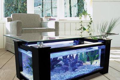 Inspirasi Meja Aquarium Minimalis Yang Keren Unik dan Menarik