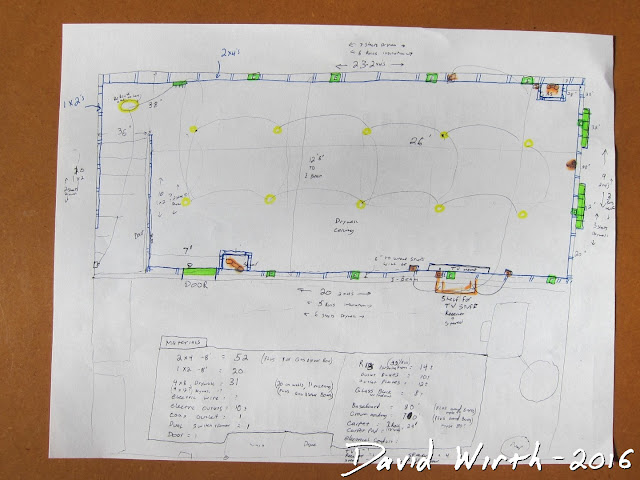 dimensions, measure, sketch, drawing, cad, refinish basement, electrical, stud wall, 2x4