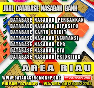 Jual Database Nomor HP Orang Kaya Area Riau