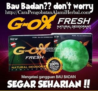 Cara alami menghilangkan bau badan cepat dengan G OX Fresh