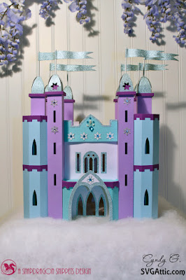 3d paper Frozen castle