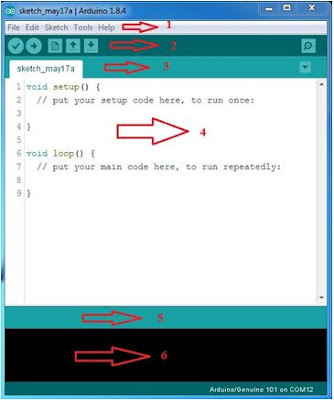 Pengenalan Jendela Software IDE Arduino