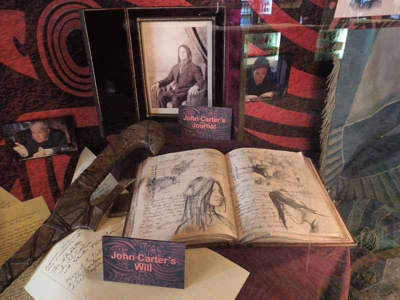John Carter will and journal props