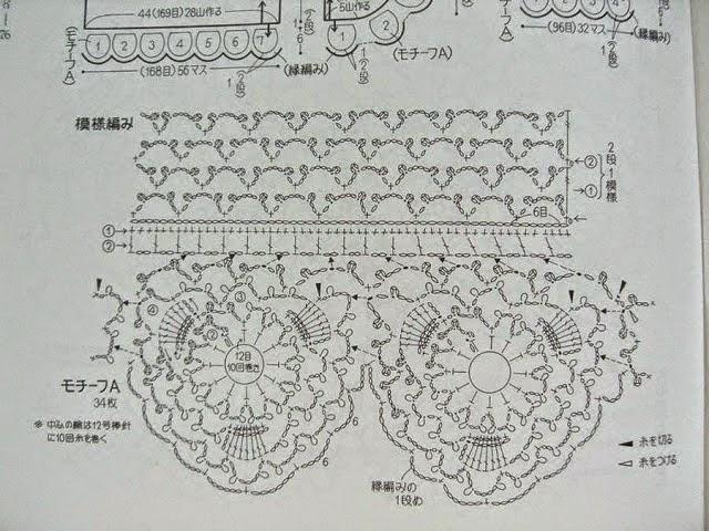 Bolero con flores y ondas tejido al crochet - con patrones y ...