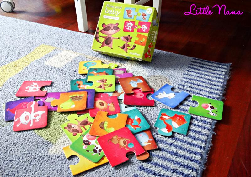 Hoy jugamos al puzzle mom and baby