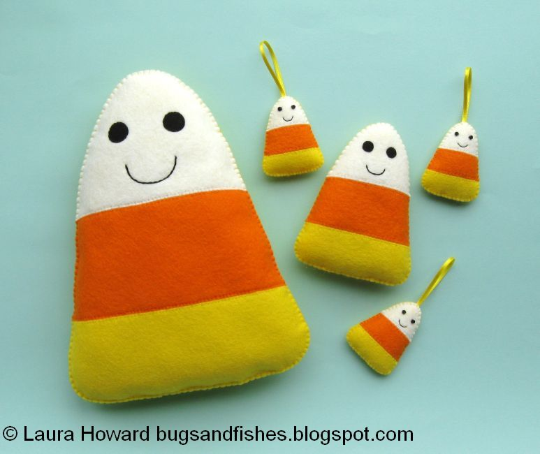 Bugs And Fishes By Lupin: How To: Felt Candy Corn Plush