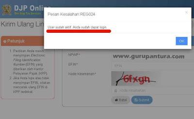 Masalah Link Aktivasi EFIN Pajak Online-Guru Pantura
