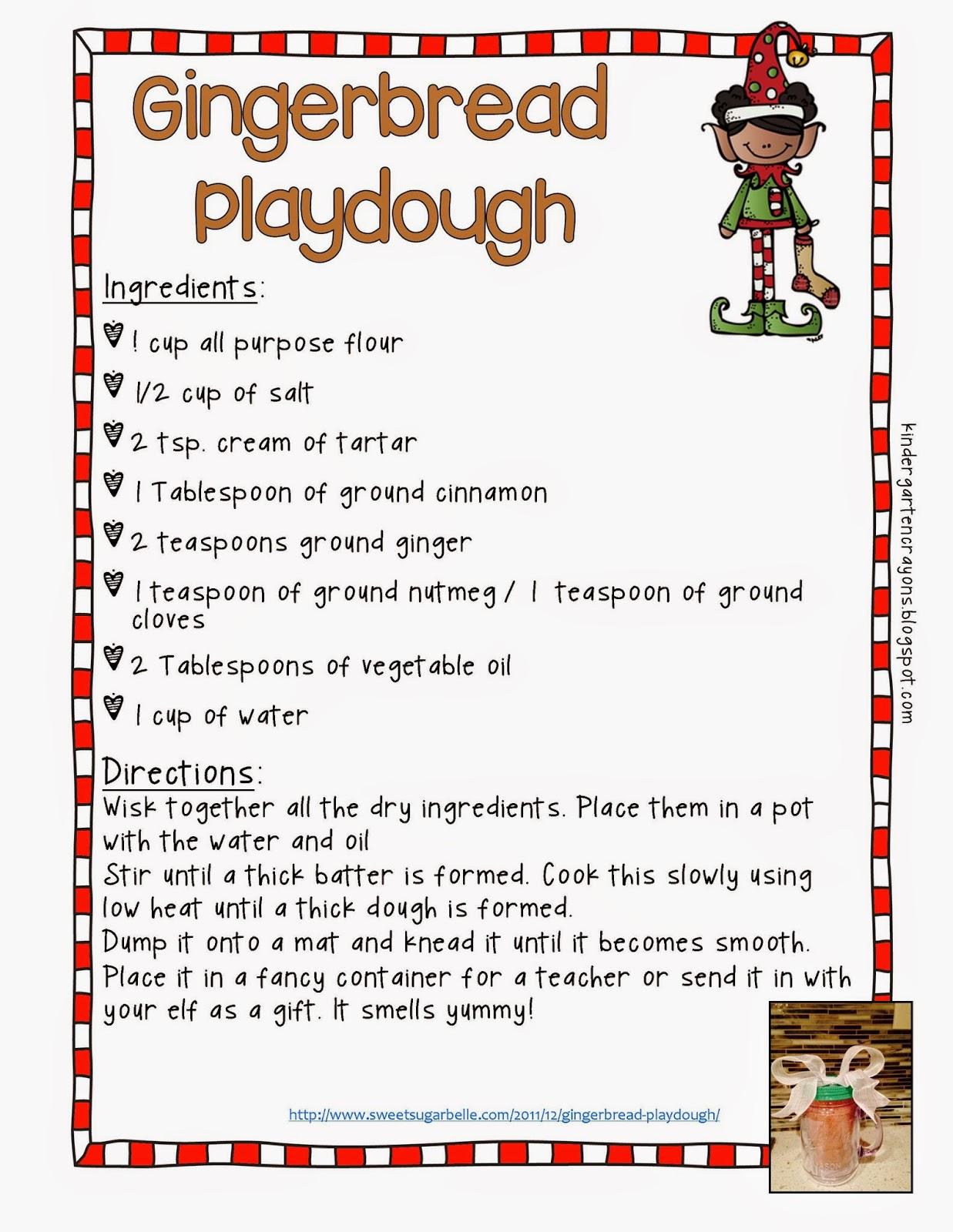 Kindergarten Crayons Gingerbread Fun On The Run