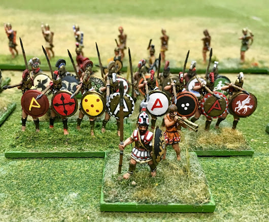 A Test Game in Ancient Warfare