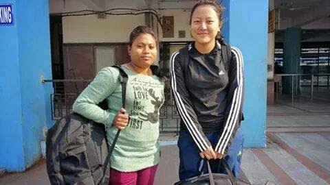 Uden Bhutia in Team Bengal at the Women's National Volleyball Tournament