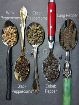 White, Black, Green, Cubeb & Long Pepper