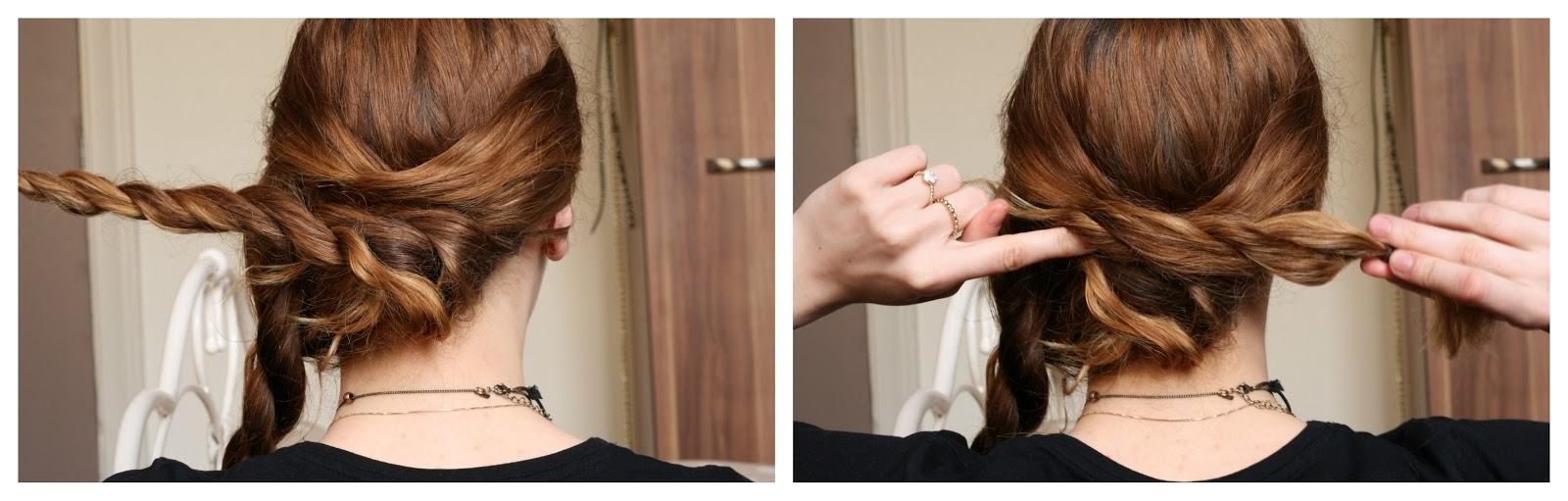 vida nullvier eine einfache hochsteckfrisur f r bad hair days bei langen haaren. Black Bedroom Furniture Sets. Home Design Ideas