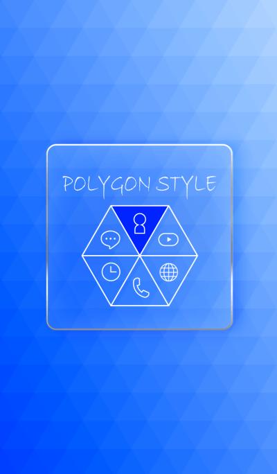 POLYGON STYLE - BLUE -