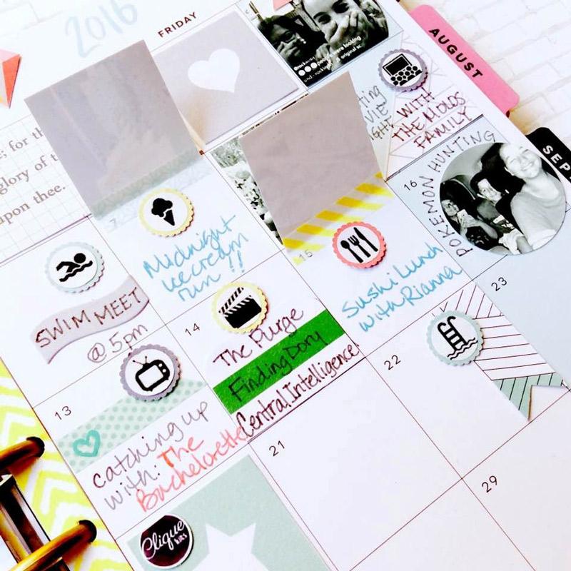 Planner Spread by Janet Perafan-Babar: Clique Kits Raskog July 2016 Kit