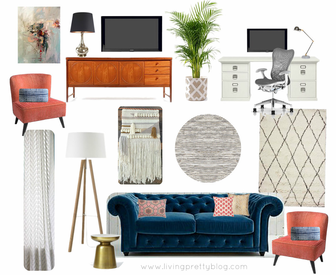 mid century modern living room ideas picture