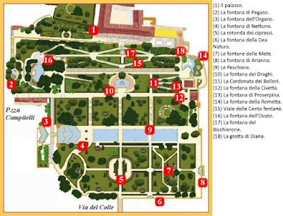 Mappa Villa d'Este Tivoli