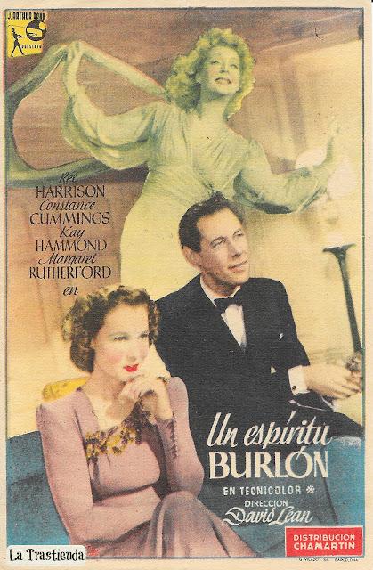 Programa de Cine - Un Espíritu Burlón - Rex Harrison - Constance Cummings