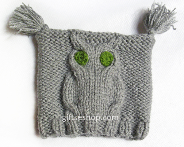 pattern for baby hat, knit owl pattern, baby owl hat