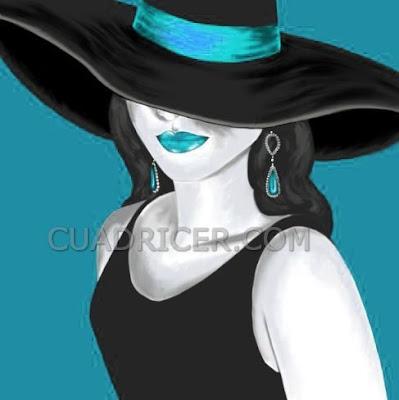 http://www.cuadricer.com/cuadros-pintados-a-mano-por-colores/cuadros-azul-turquesa/cuadros-dama-elegante-pamela-turquesa-2133.html