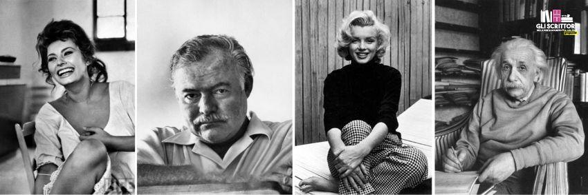 Sofia Loren, Ernest Hemingway, Marilyn Monroe e Albert Einstein