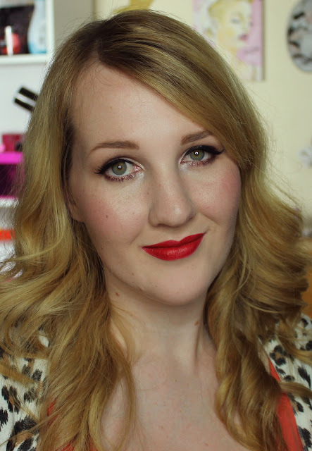 Maybelline Colorsensational Creamy Matte Lipstick - Siren in Scarlet Swatches & Review