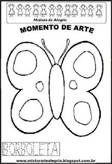Projeto Pátria, desenho de borboleta