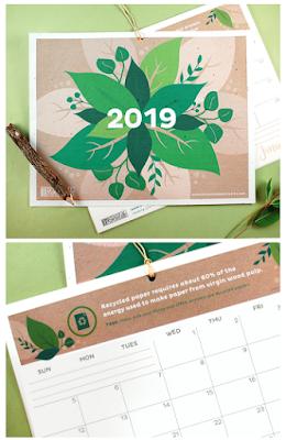 2019 green calendar