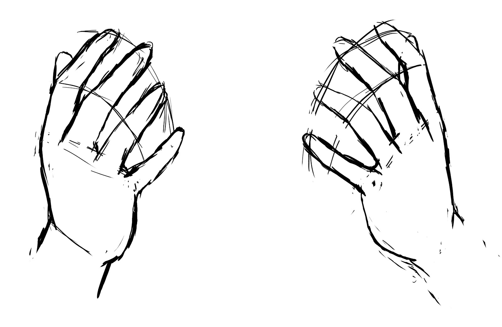 Pin les mains dessin on pinterest - Dessin 2 mains ...