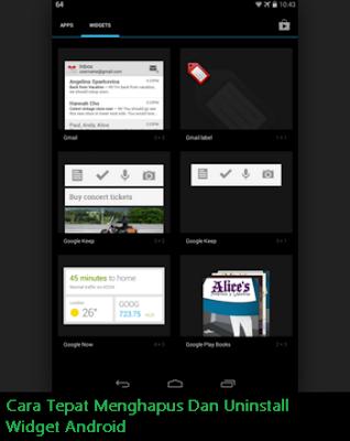 Cara Tepat Menghapus Dan Uninstall Widget Android