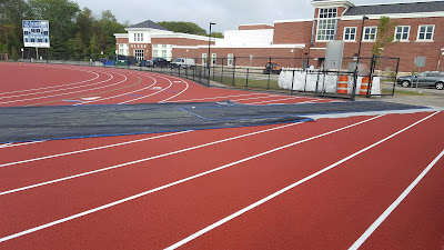 the track is protected for the football team to use