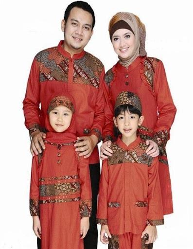 Model Baju Muslim Batik Pesta Modis Atasan Untuk Pria Wanita dan Anak ...