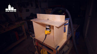 Scrap wood city i made this mini router table for my trim router it is made out of 9mm birch plywood it has a movable fence and a place for my dust collection system greentooth Gallery